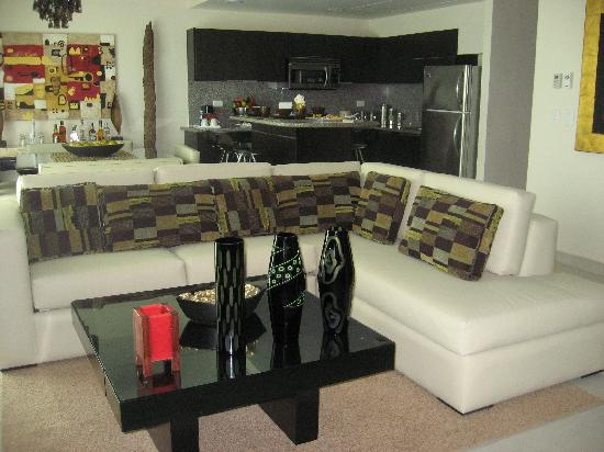 Living Area In A 1 Bedroom Suite Picture Of Azul Beach Resort The Fives Playa Del Carmen