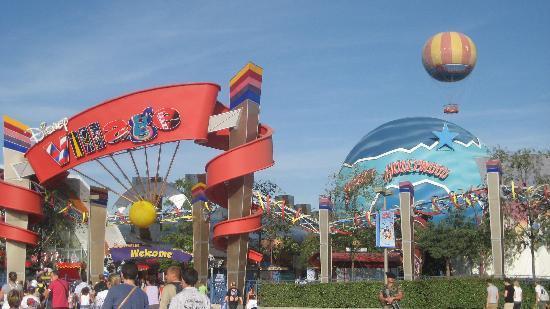 Buffalo Bill's Wild West Show with Mickey & Friends: Entrance to Disney Village.