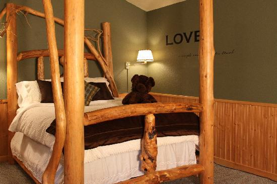 Handmade Pine Log Beds and Pine River Ranch Bed and Breakfast