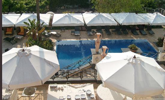 Palazzo Rosenthal: La piscine vue depuis la chambre