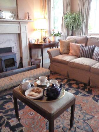 Craigiewood: tea in sitting room