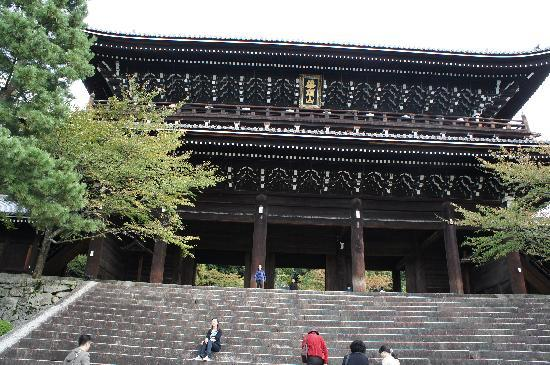 Kyoto, Jepang: Majestic entrance to Chi-On-In temple