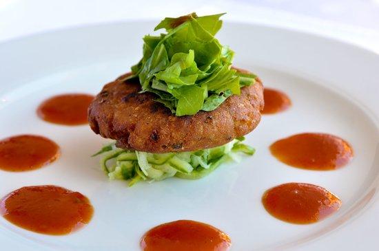Benguela Restaurant: Thai Fish Cake on Cucumber