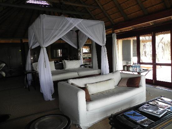 Beautiful Wilderness Safaris Kings Pool Camp: The Bed And Living Room Area Part 26