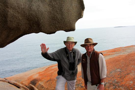 Kangaroo Island, Australia: on right, Peter Morrris guide at Remarkable Rocks