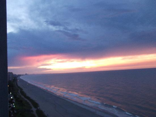 SeaGlass Tower: sunrise from balcony