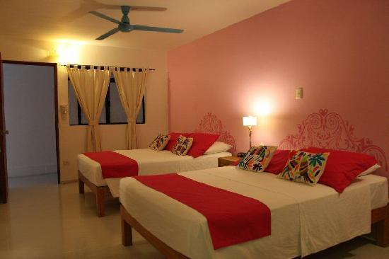 "هوتل كاتدرال فالارتا: ""Cucurrucucu paloma"" is the name of this gorgeous Room with 2 double beds, and private balcony"