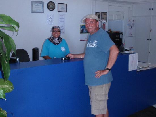 Dive Barbados : Fatema Degia & John Moore