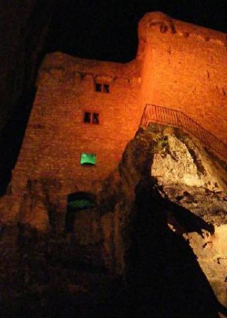 \Altes Schloss Hohenbaden all lit up #2