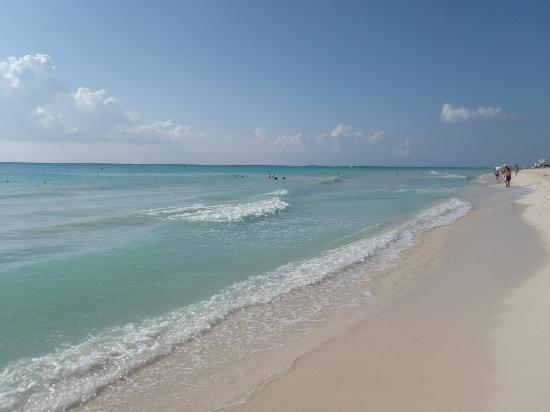 Viva Wyndham Maya: Looking down the beach