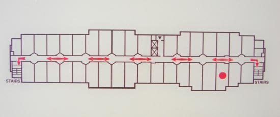 SpringHill Suites Las Vegas Henderson : Floorplan on the door