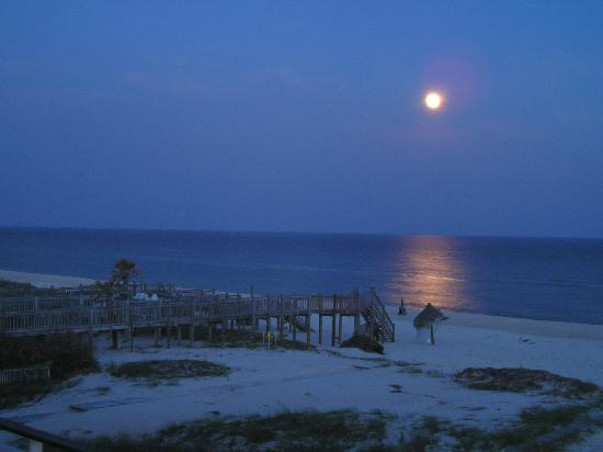 St George Island, Flórida: Moonlight on the Beach