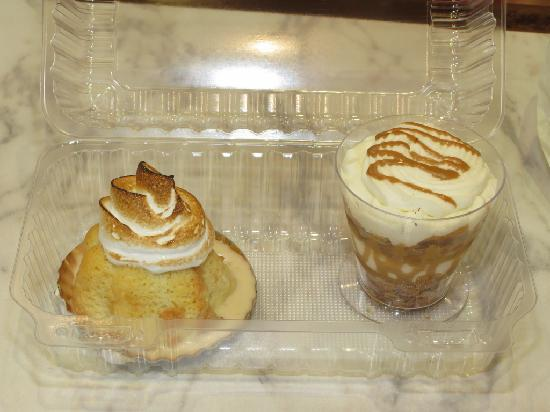 Porto's Bakery & Cafe: tres leches (left), and mille feuill (right)