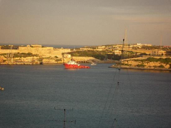 Valletta Studios: another view of the harbor from apartment one
