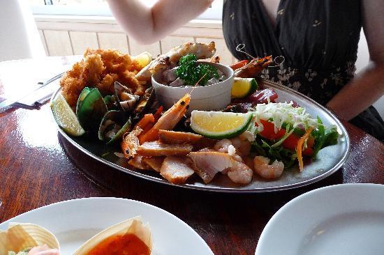 Trader Jacks seafood platter for 2