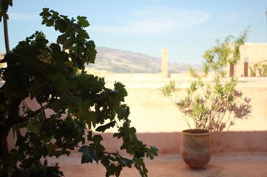 Riad Laaroussa Hotel and Spa: Sur la terrasse...