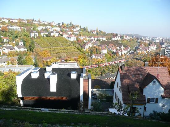 Novum Hotel Boulevard Stuttgart City: Vineyards in sight of downtown Stuttgart