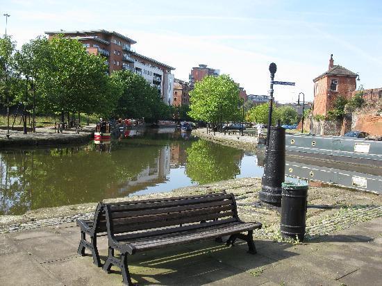 Manchester, UK: Beschauliche Ruhe im Stadtteil Castlefield