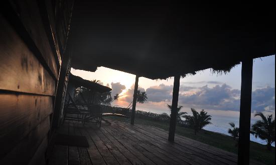 Busua, Ghana: vue de ma chambre