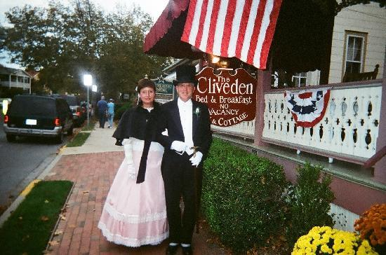 The Cliveden Inn: My wife and I going to the Victorian Ball