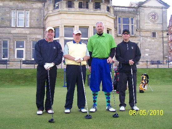 Braeside House: James with us before tee off at St. Andrews