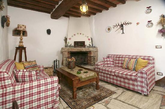 Living con camino foto di aia vecchia di montalceto for Living con camino
