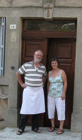 Martin and Síle Dwyer , proprietors of Le Presbytere