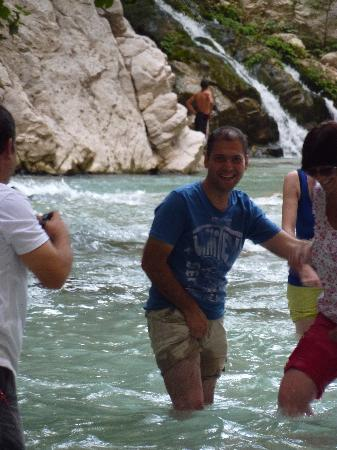 Saklikent Milli Parki : Mehmet leading us down the gorge