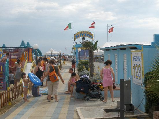Rivazzurra, Italien: Entrata Spiaggia
