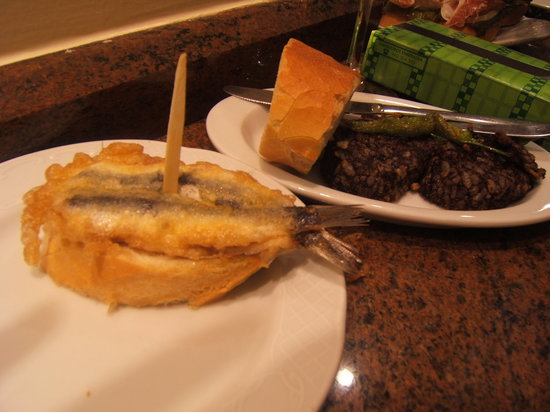 Bar Goiz Argi : whi would think a sardine could be this good :) Awesome Morcilla ~
