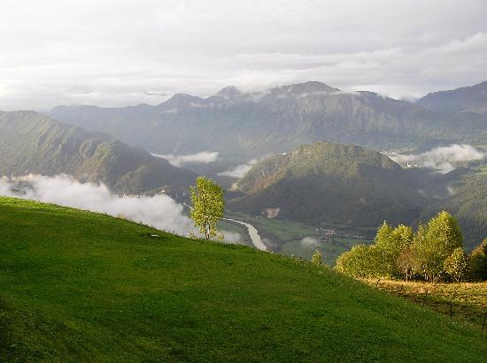 Kobarid (Caporetto), Slovenia: View from Nebesa