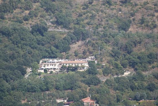 A view of Hotel Villa degli Angeli from Castle Gandolfo