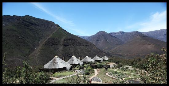 Tsehlanyane National Park, Lesotho: View of Lodge from hike trail