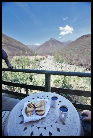 Tsehlanyane National Park, Lesotho: View from the patio of our River Lodge