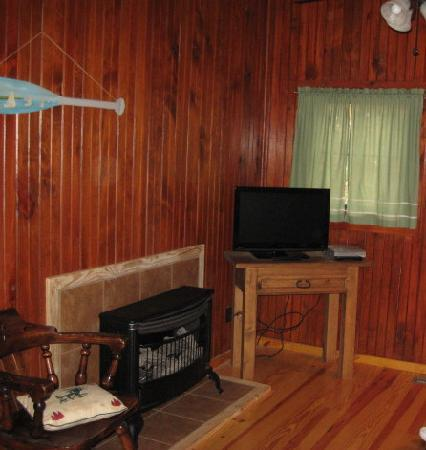 Five Points Cabins: living room