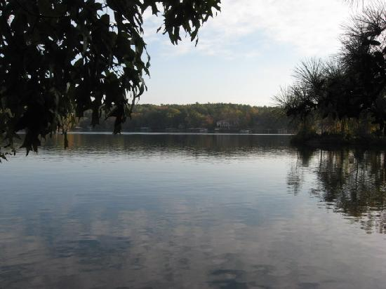 Five Points Cabins: lake from gazebo