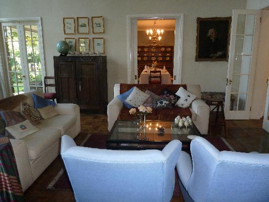 Grendon House: living room and dining room