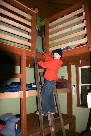 Maple Tree Campground: Three levels of bunks to choose from!