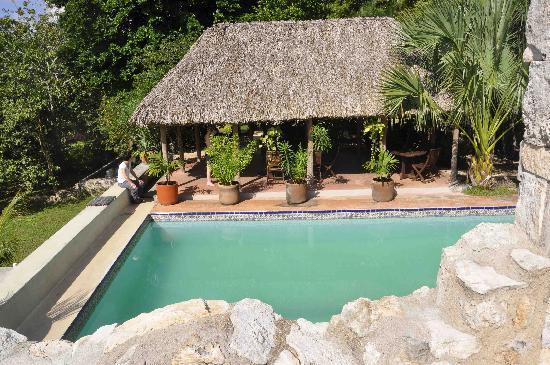 Hacienda Hotel Santo Domingo : piscine et palapa