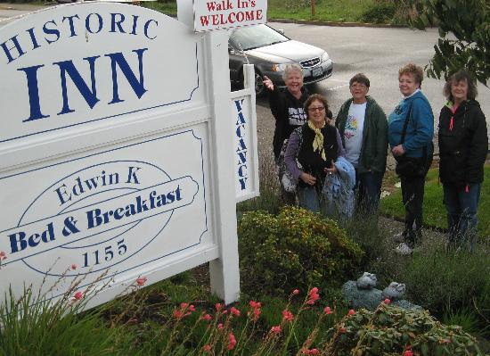 Edwin K Bed and Breakfast: Our arrival at the Edwin K B & B