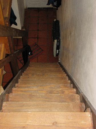 Anita's House Cabins: steep stairs to beds