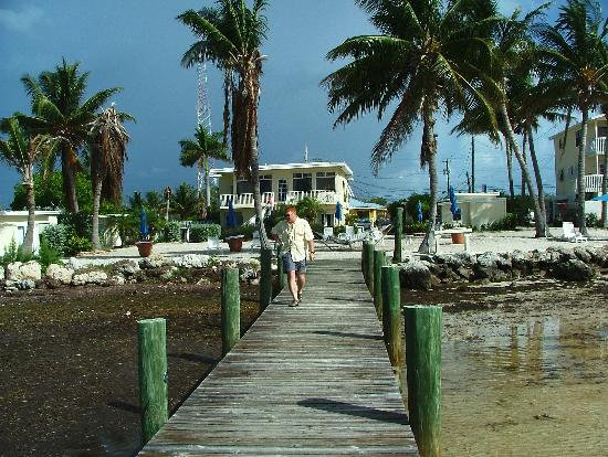Yellowtail Inn: At the end of the pier, as you can see ankle deep for my grandson.. he is looking for the hermit