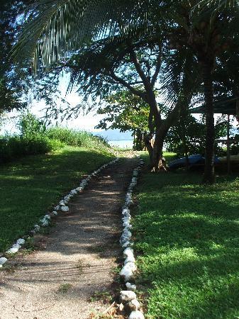 Ecoplaya Beach Resort : path to beach, very close by