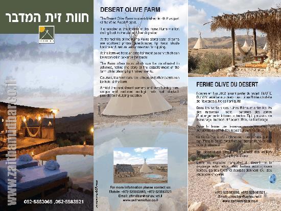 Israel: THE PROSPECTE1-DESSERT OLIVE FARM