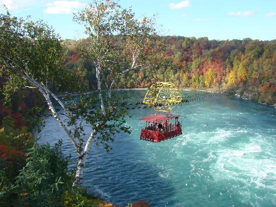 Hampton Inn by Hilton Niagara Falls-North Of The Falls: Whirlpool Aero Car over Niagara River