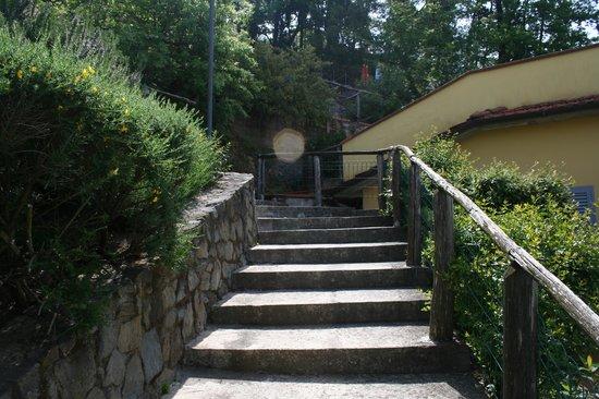 Hotel Bellavista: inner stairway