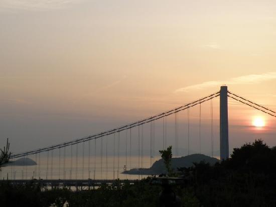 Kurashiki, Japan: 鷲羽山からの夕陽
