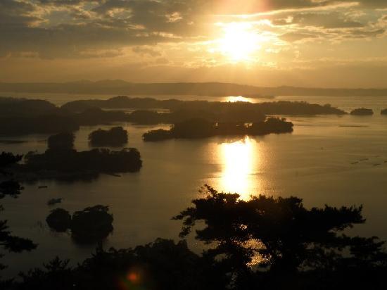 大高森展望台, 大高森からの夕陽
