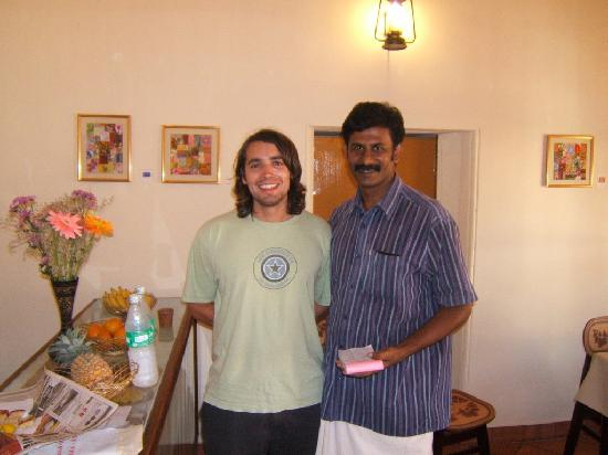 Master's Art Cafe: Biju with a client