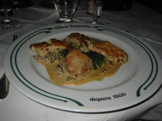 Chez Camille: Ris de veau escalopé et doré au beurre